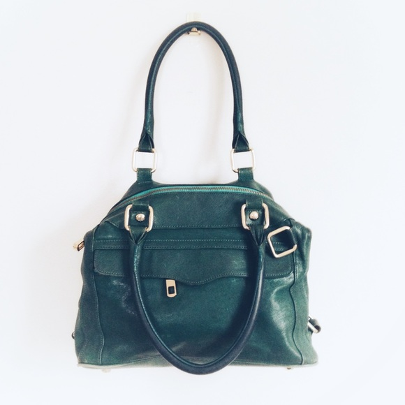 f43a47bd7280 Rebecca Minkoff Green Leather Satchel Bag Purse. M 5c5d769d619745a31bacd36d